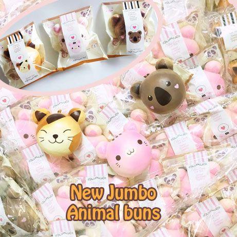 RARE JUMBO Puni Maru Animal Bun Squishy Brown cat