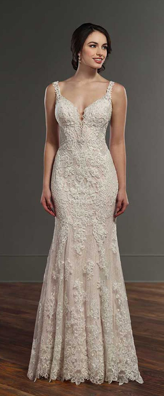 White mermaid wedding dress  Charming Tulle u Lace Vneck Neckline Natural Waistline Mermaid