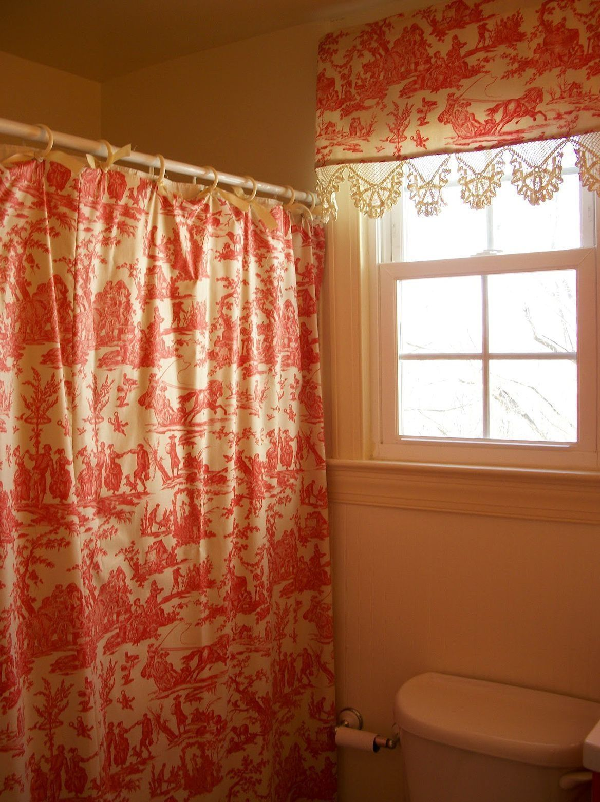 Matching Window Valance And Shower Curtain