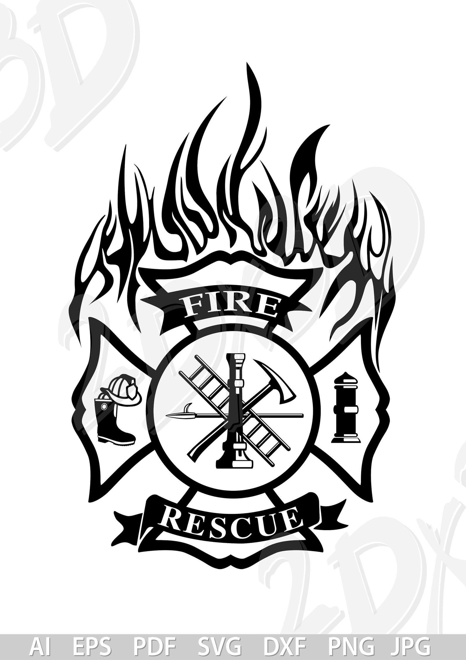 Vector Fire Fighter Fire Ai Eps Pdf Jpg Svg Png Etsy In 2021 Fire Fighter Tattoos Firefighter Firefighter Logo