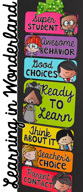 Learning in wonderland clip chart if  had an elementary classroom this would be it also management pinterest behavior rh