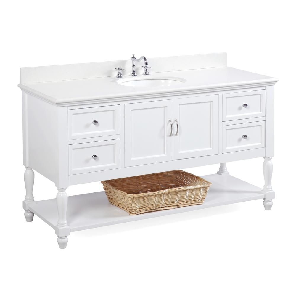 Beverly 60 Inch Single Vanity With Quartz Top 48 Inch Bathroom Vanity Traditional Bathroom Vanity Single Bathroom Vanity