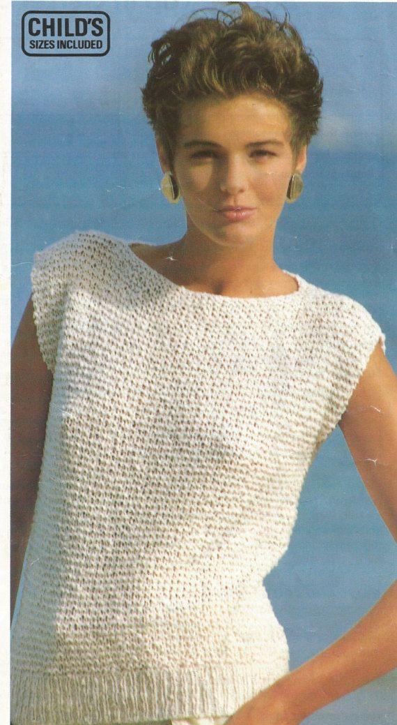 Easy Knitting Pattern Girls / Ladies Top in Garter Stitch | knitting ...