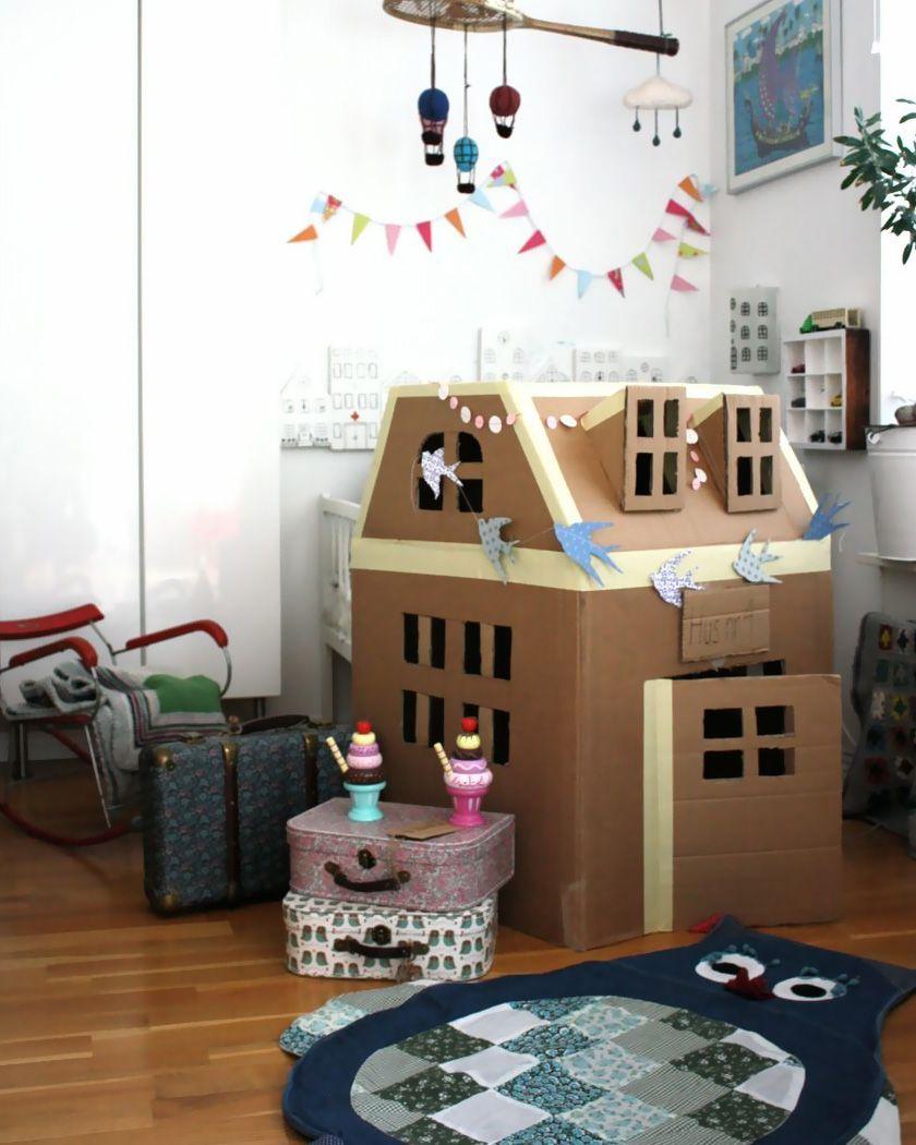 Cabane En Carton Diy une cabane diy pour les enfants | cardboard houses for kids