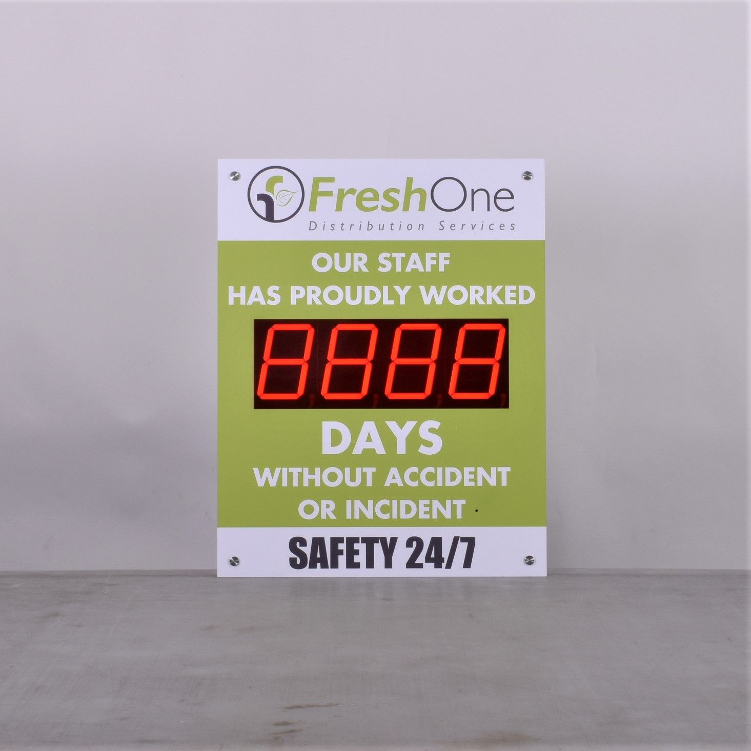 """Days Since Last Accident Sign with 5"""" Counter (28Hx22W"""