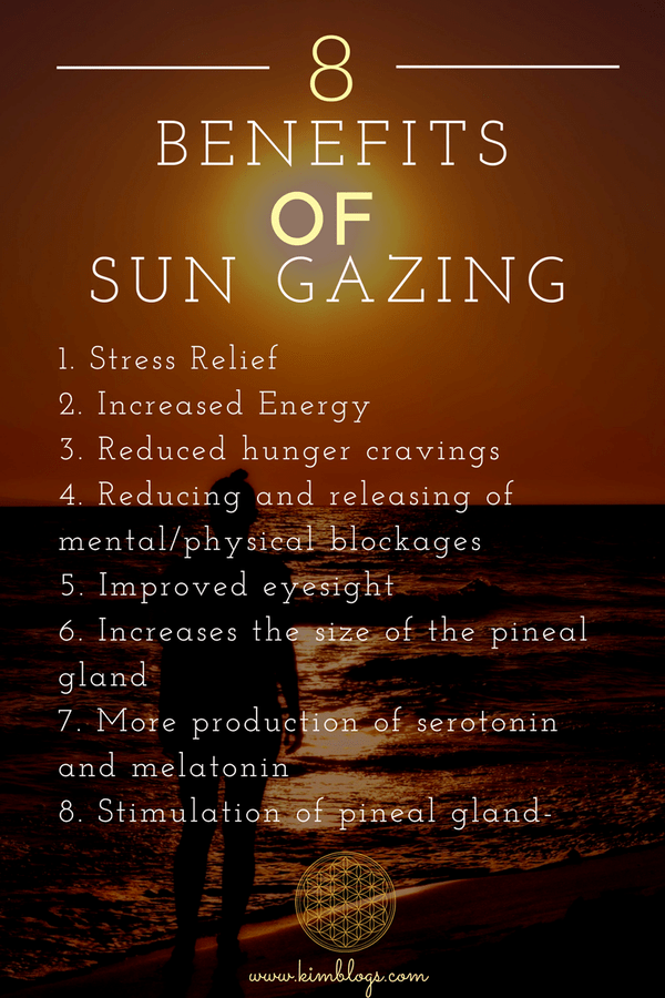 8 Things I Learned About the Benefits of Sun Gazing - Kim Blogs