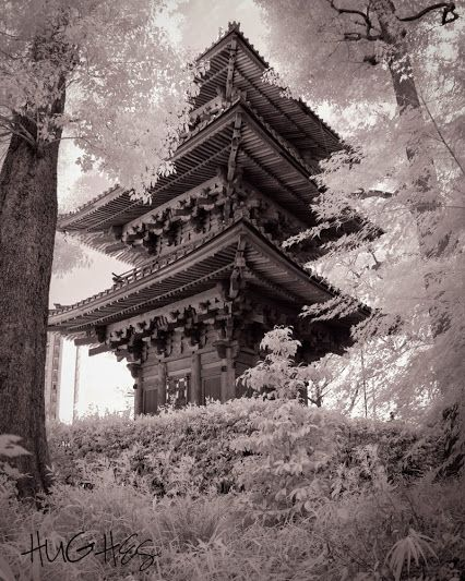 Three-Storied Pagoda, currently called Entsukaku is  one of the three oldest pagodas still remaining in Tokyo. Located on the grounds of the Hotel Chinzanso Tokyo.  Scott B Hughes hughesphoto.net