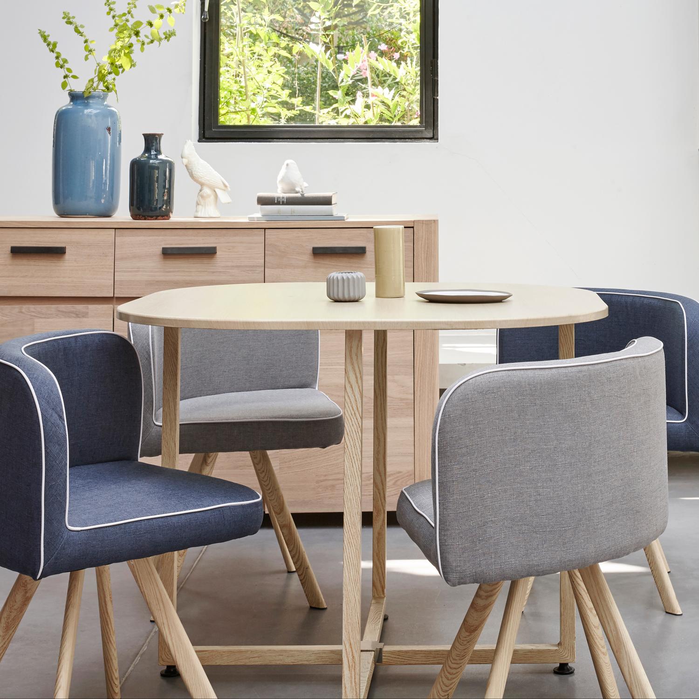 Table 4 Chaises Melo Bois Bleu Camaïeu De Bleus En 2019