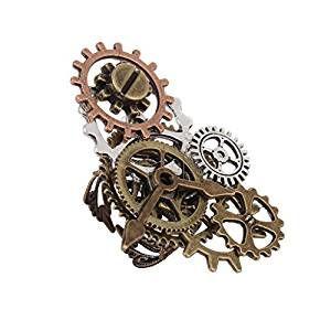 steampunk schmuck accessoire f r steampunk kost m steampunk uhr teil zahnr der ring f r herren. Black Bedroom Furniture Sets. Home Design Ideas