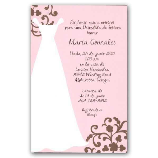 spanish bridal shower invitations