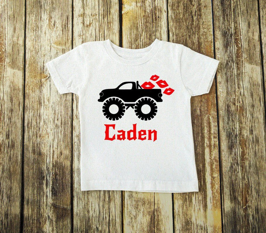 a09301310 Valentine's Monster Truck Tee - Monster Truck Shirt - Boys Valentine's Shirt  - Boys Personalized Tee - Boys Graphic Shirt - Valentine's Day by ...