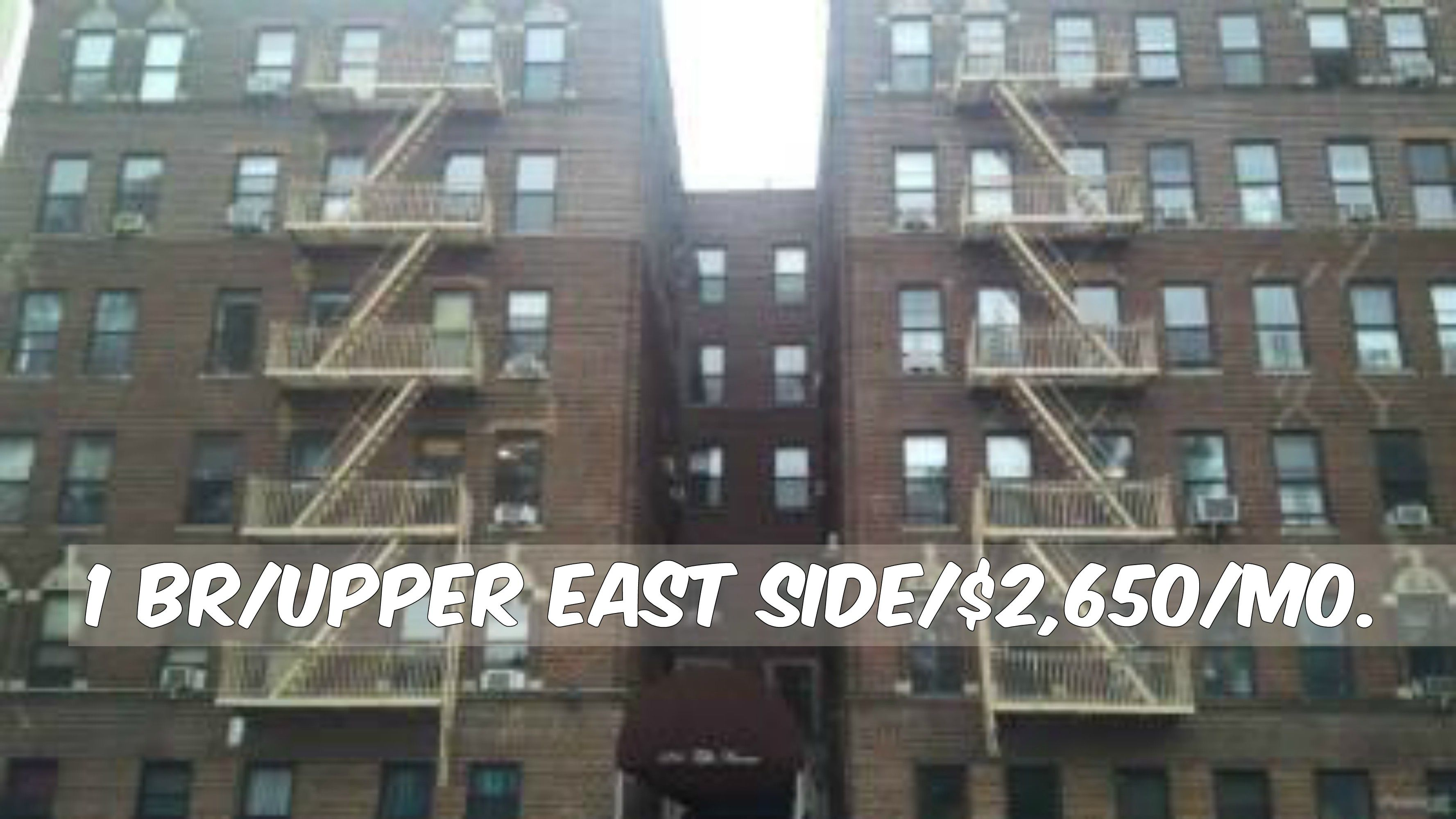 1 Br Apt For Rent In Upper East Side At 2 650 Mo Elevator