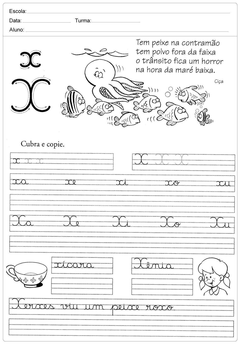 Atividades De Caligrafia Para Imprimir Atividades De Caligrafia