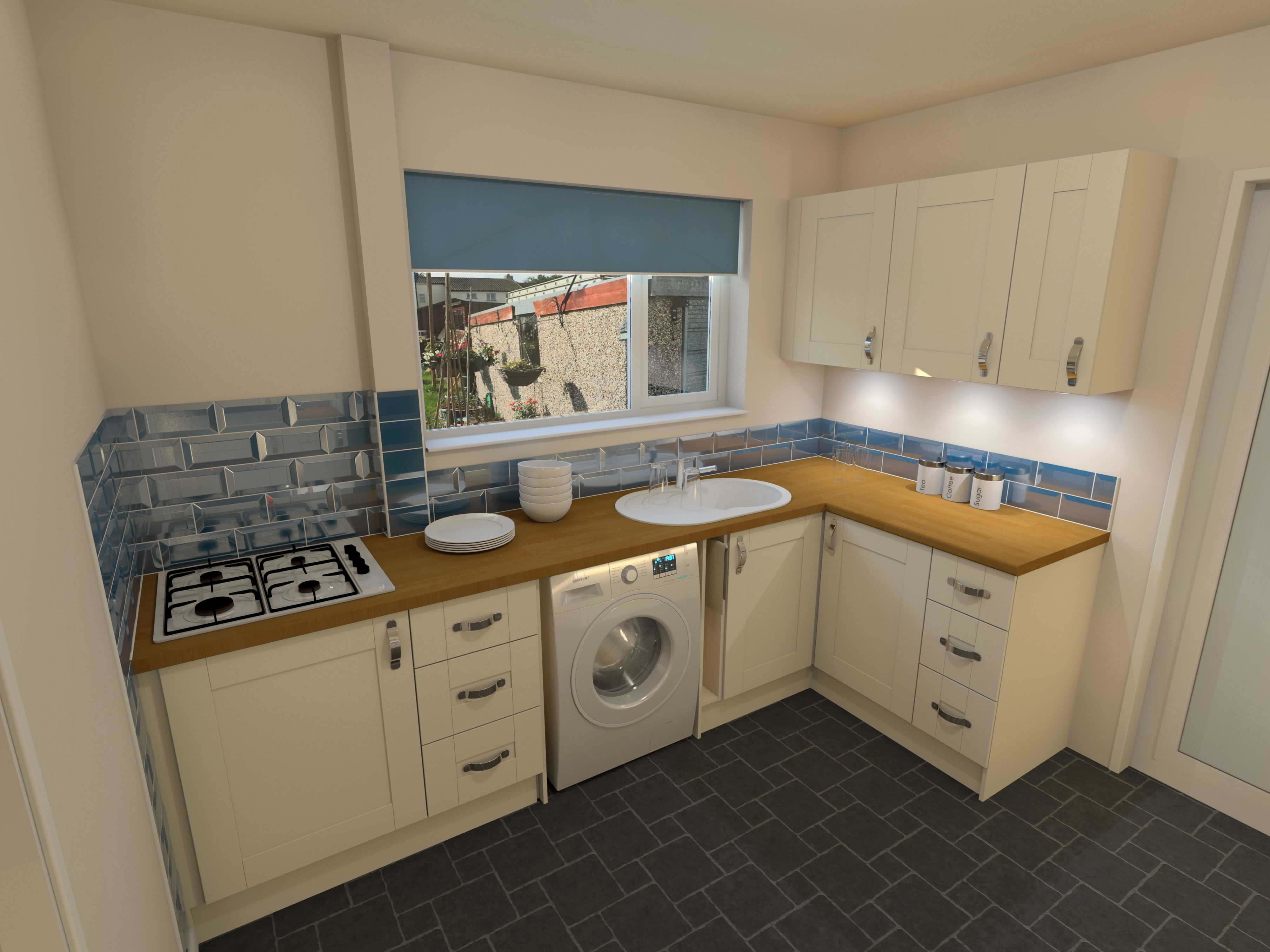 AutoCAD Kitchen Design Idea. Rendered on Autodesk 360. | AutoCAD 360 ...