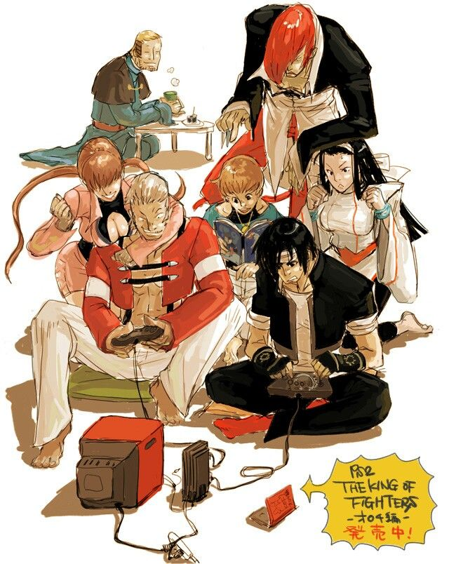Kof Cast Kof Snk King Of Fighters Arte De Personajes