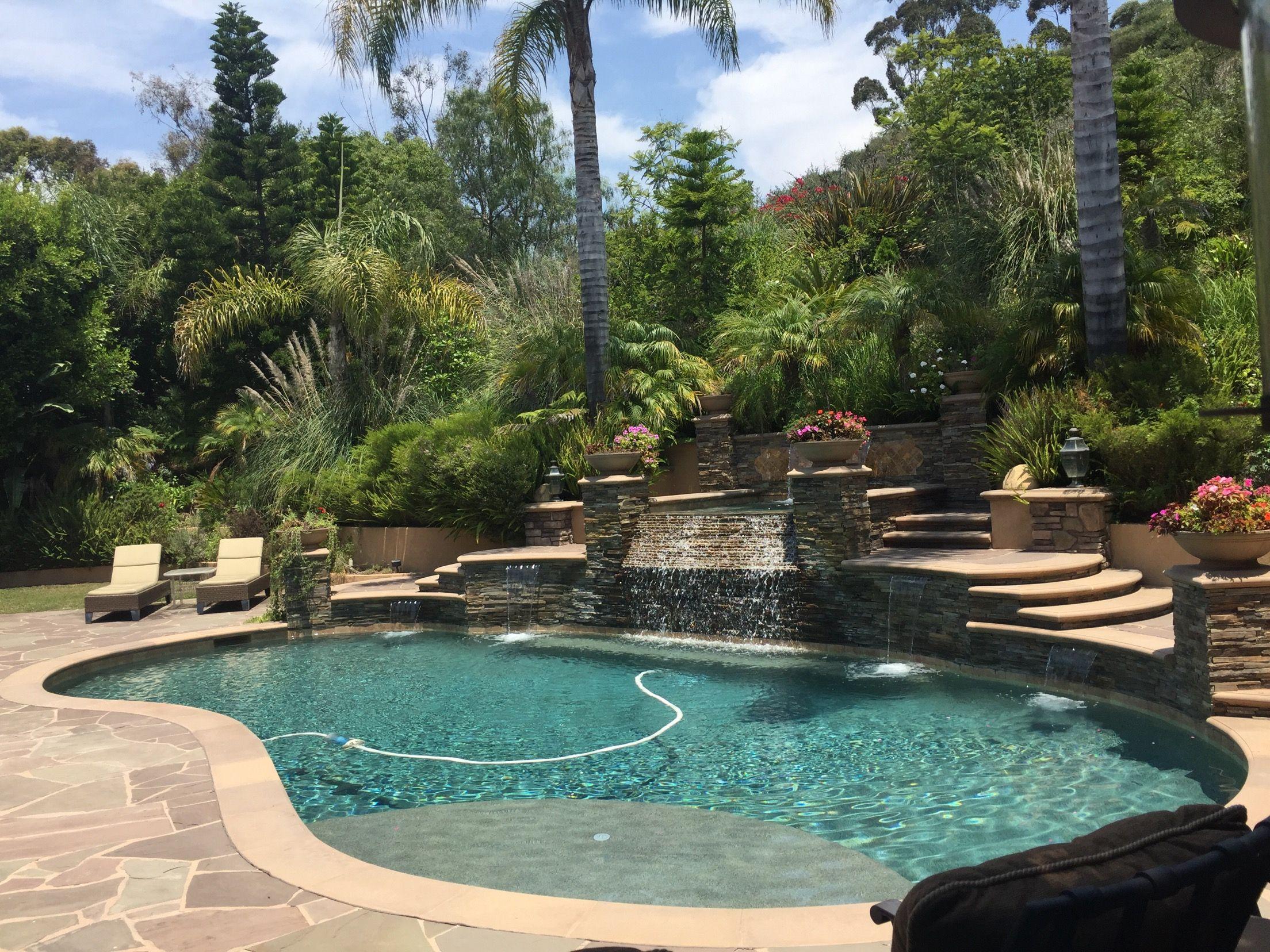 Schwimmbäder Hinterhof, Pool Gartenbau, Traum Pools, Terassenideen,  Hinterhofideen, Gartenideen, Pool Haus