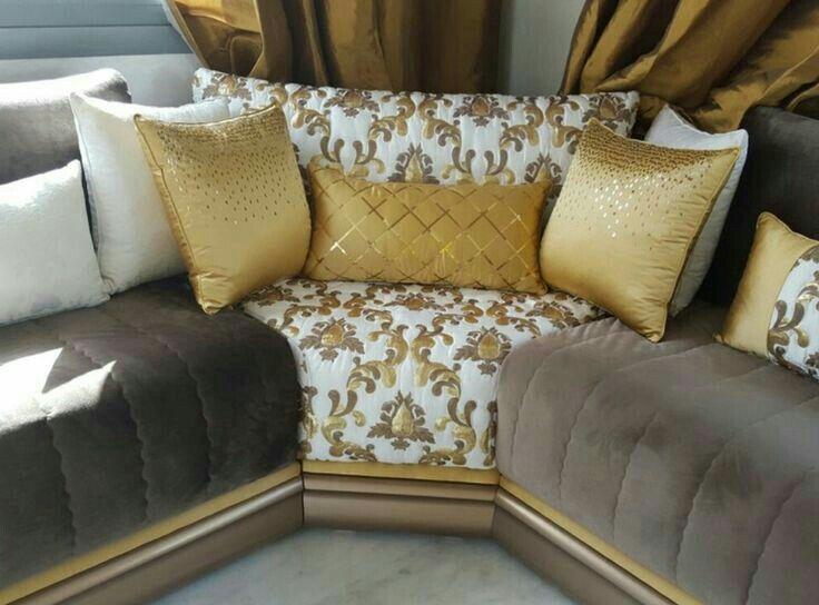 Ju0027aime les tissus les couleurs de ses salons صالون مغربي