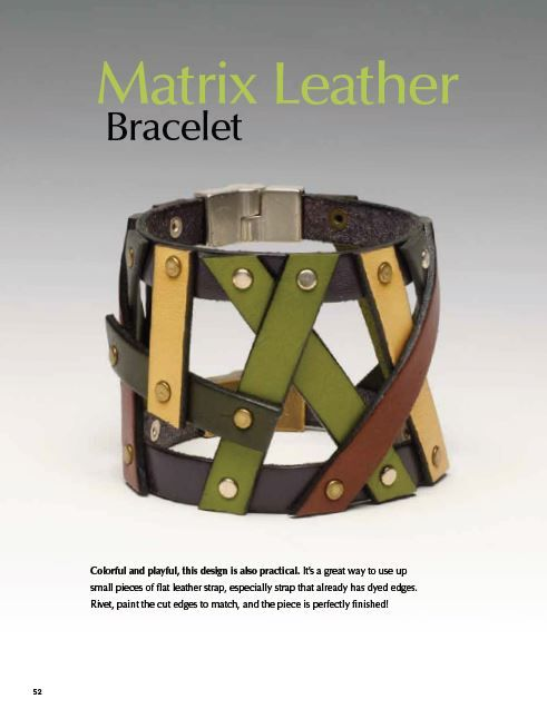 Photo of Book Review : Beautiful Leather Jewelry – The Beading Gem's Journal