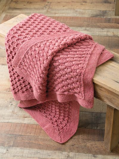 Reversible Afghan Knit Pattern from Annie's Craft Store ...