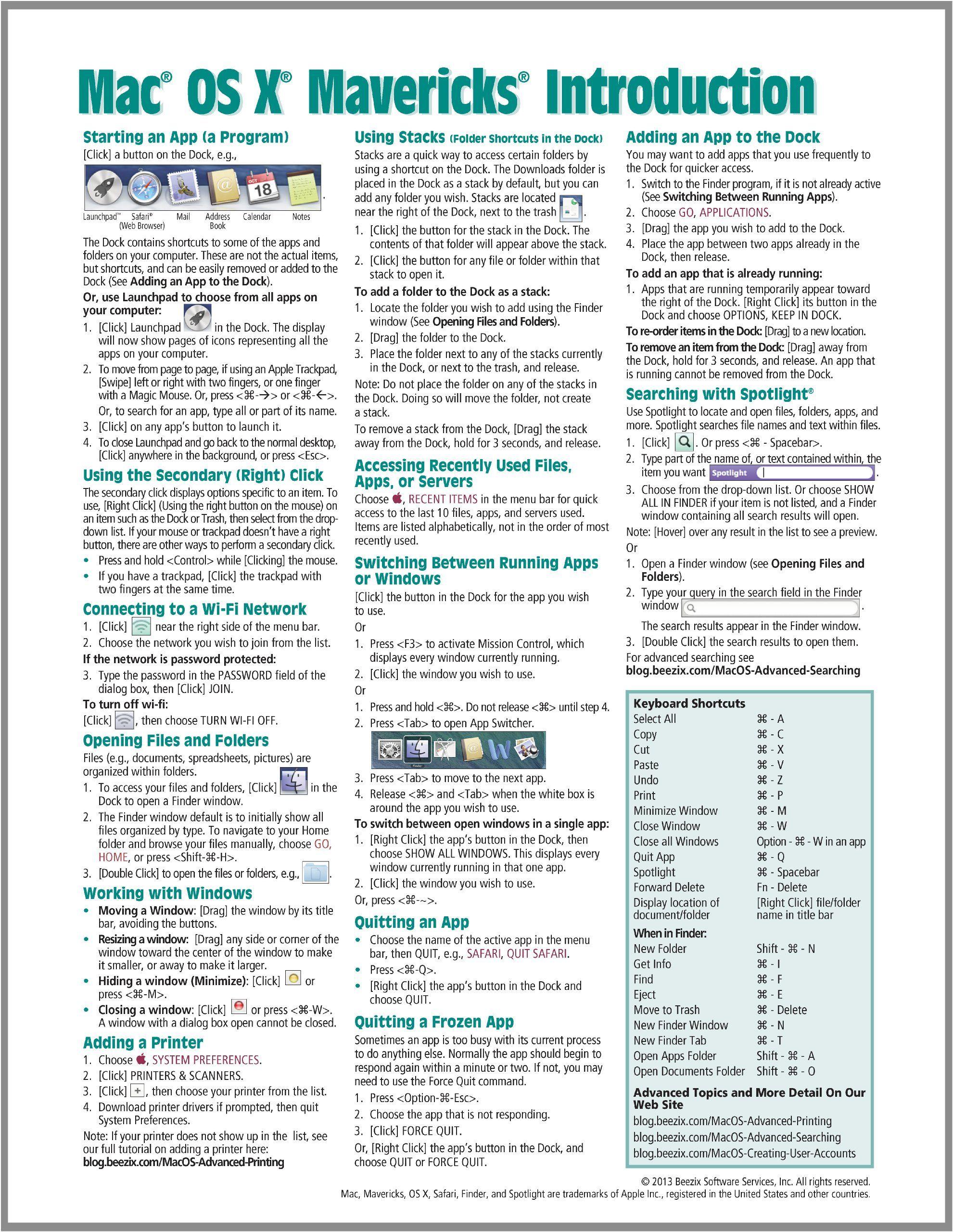 Mac Quick Keys Guide Expert User Guide