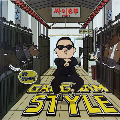 Poster Size 24 X 24 Idols Featured Psy Gangnam Style Best Workout Songs Style