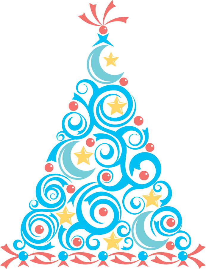 Blue Christmas Tree Clip Art Christmas Party Invitations Christmas Tree Clipart Invitations