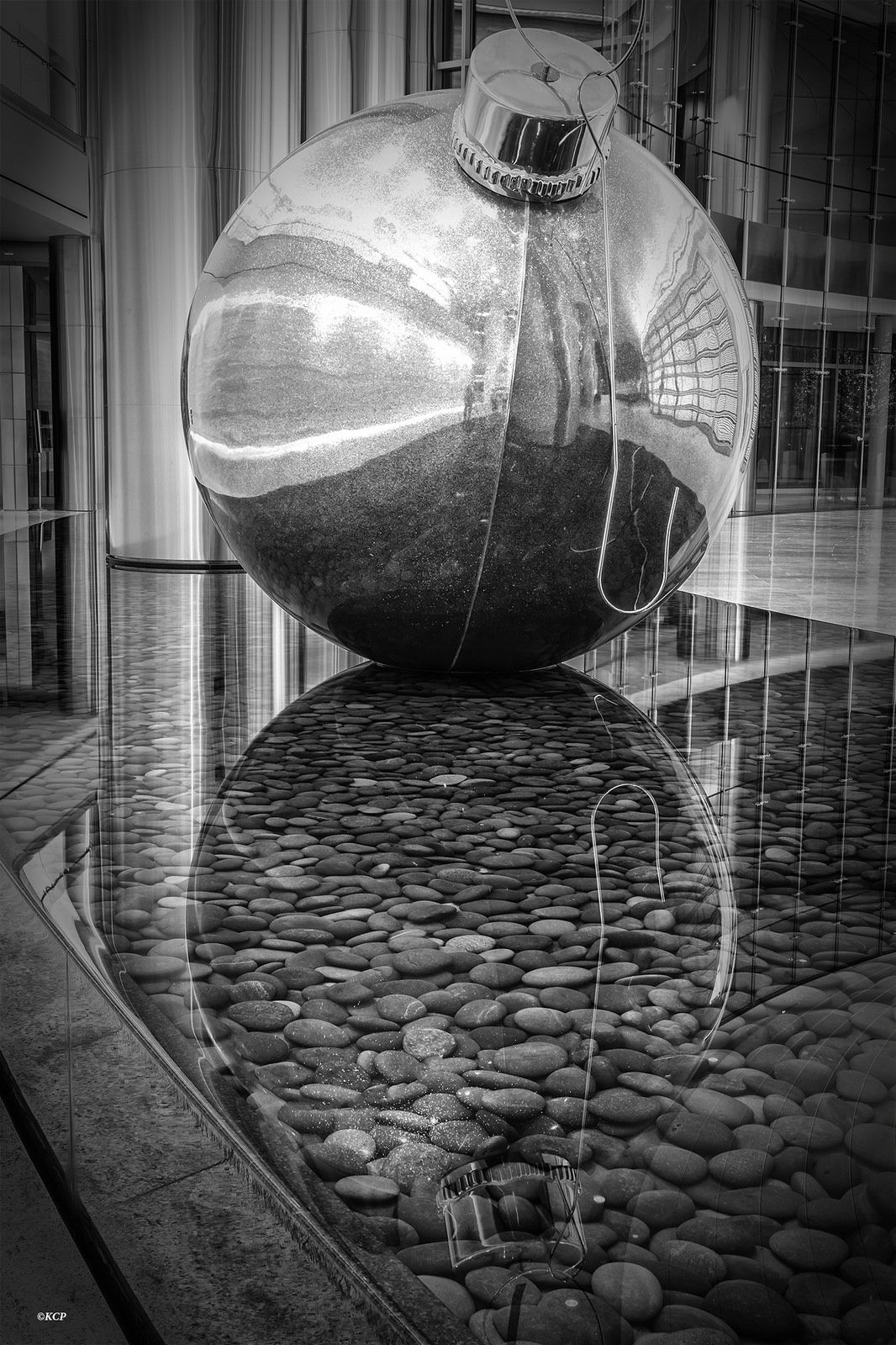 Reflection pool abstract bw by kool cats photography reflecting pool inside the devon tower in oklahoma city