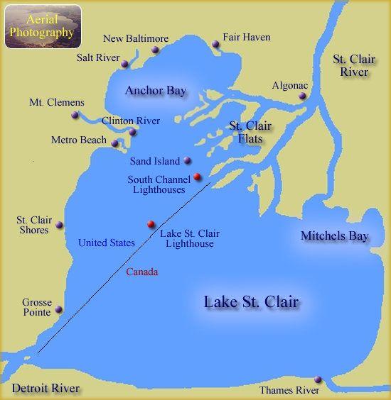 Lake St Clair Map lakes+St+Clair | Lake St. Clair Harbor Region | Home | Saint clair
