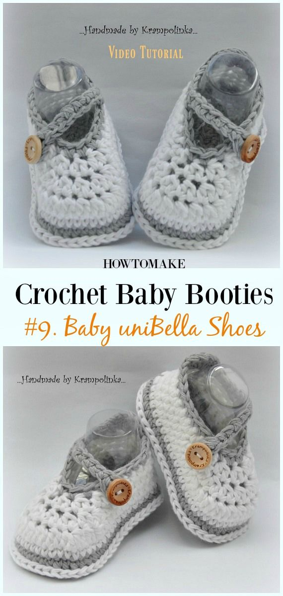 Baby Booties Free Crochet Patterns Babyschuhe Pinterest