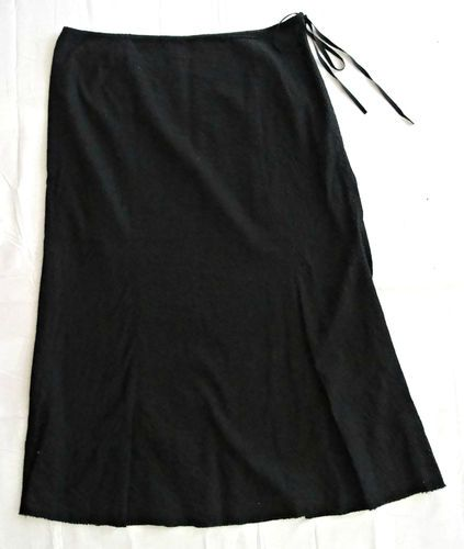 J.Crew Black Textured Cotton skirt size 4 Free Shipping