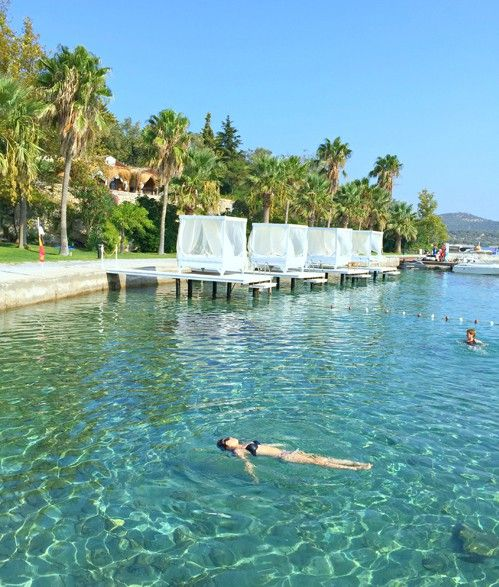 Float away at the exclusive Kalem Island Oliviera Resort in Turkey on the MS Europa 2 #cruise