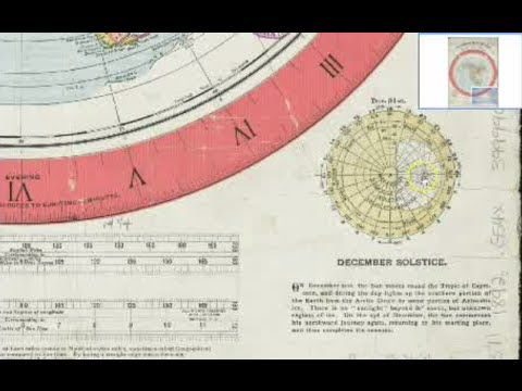 1892 Biblical Flat Earth Map With Moving Sun Found In Boston