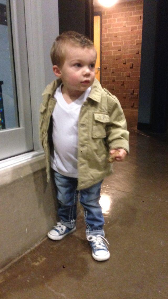 efe47a581f1b Toddler boys fashion. White V