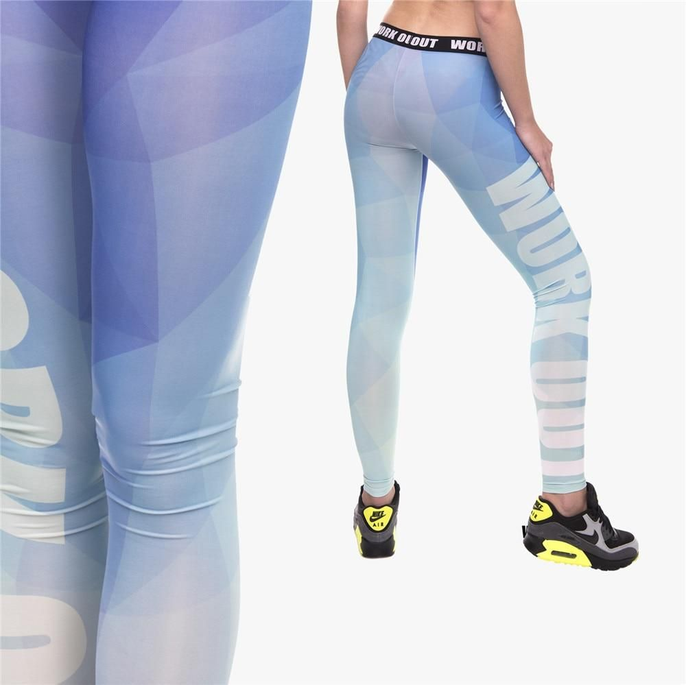5e8327f0fe Triangle Blue Print Fitness Leggings in 2018 | Fitness Leggings ...