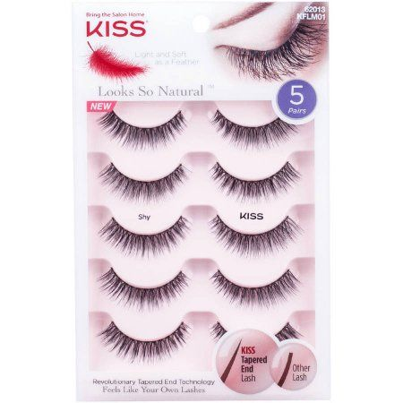 148893fc3a4 Free 2-day shipping on qualified orders over $35. Buy KISS Looks So Natural  Shy False Eyelashes, 5 pr at Walmart.com