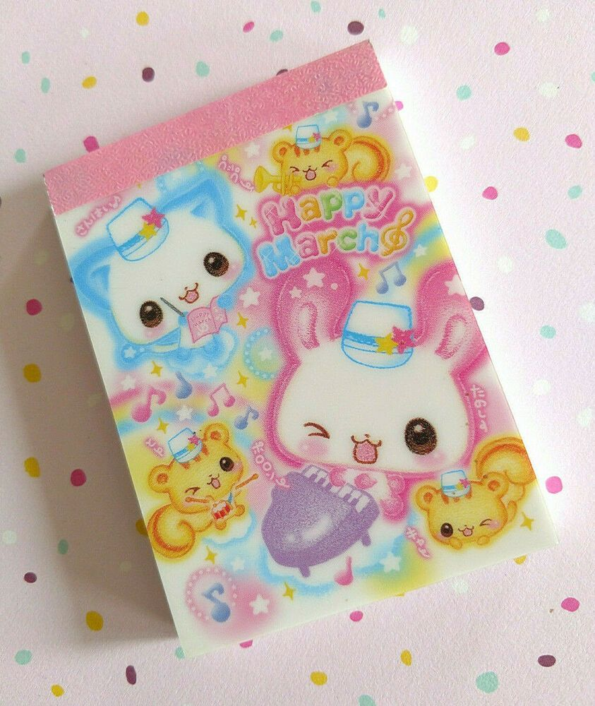 Crux Japan Ghost Animals Bats cats Mini Memo Pad Stationery Kawaii