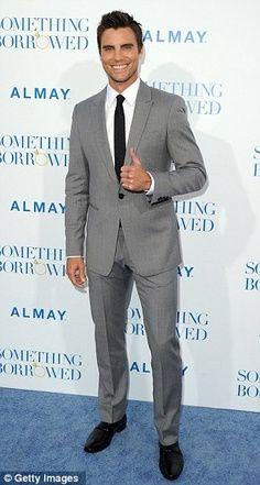 Grey suit black tie | Grey suit white