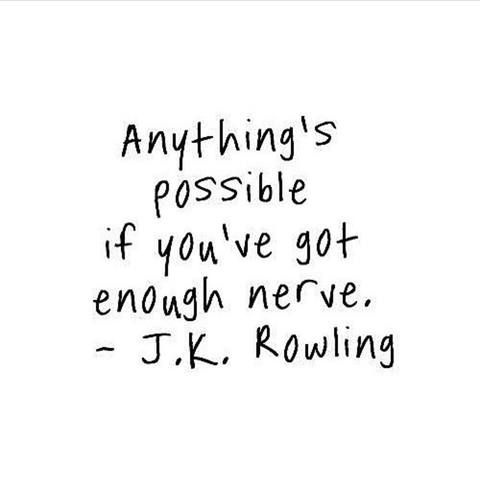 Anything is possible.