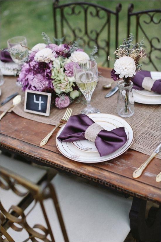 Sweet Heirloom Garden Wedding Inspiration   Purple table, Garden ...