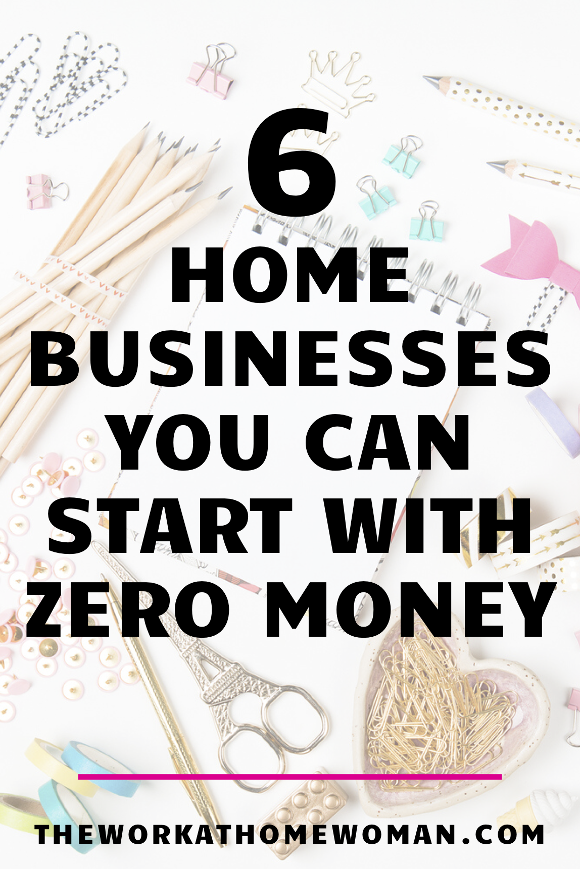 Do you want to start a business, but you don't have any funds? No problem! There are actually quite a few options for individuals who want to run their own home business without any startup fees. Check out these 6 ideas to start making money from home. #workfromhome #business #nofees #free #internet #online #homebusiness