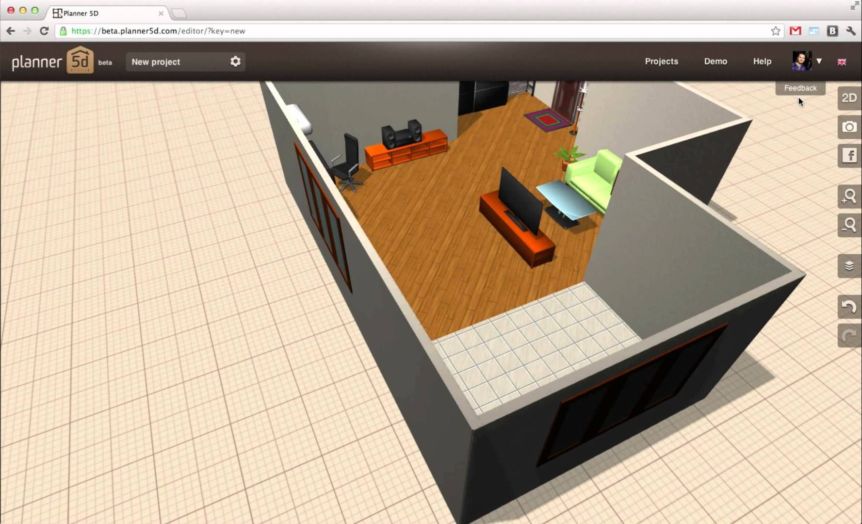 Floor plans 3D free online   design draw visualize   Pinterest     Floor plans 3D free online