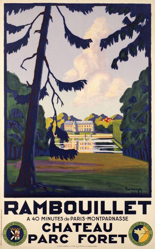 Rambouillet, Château Parc Fôret (avec images) | Affiches rétro ...