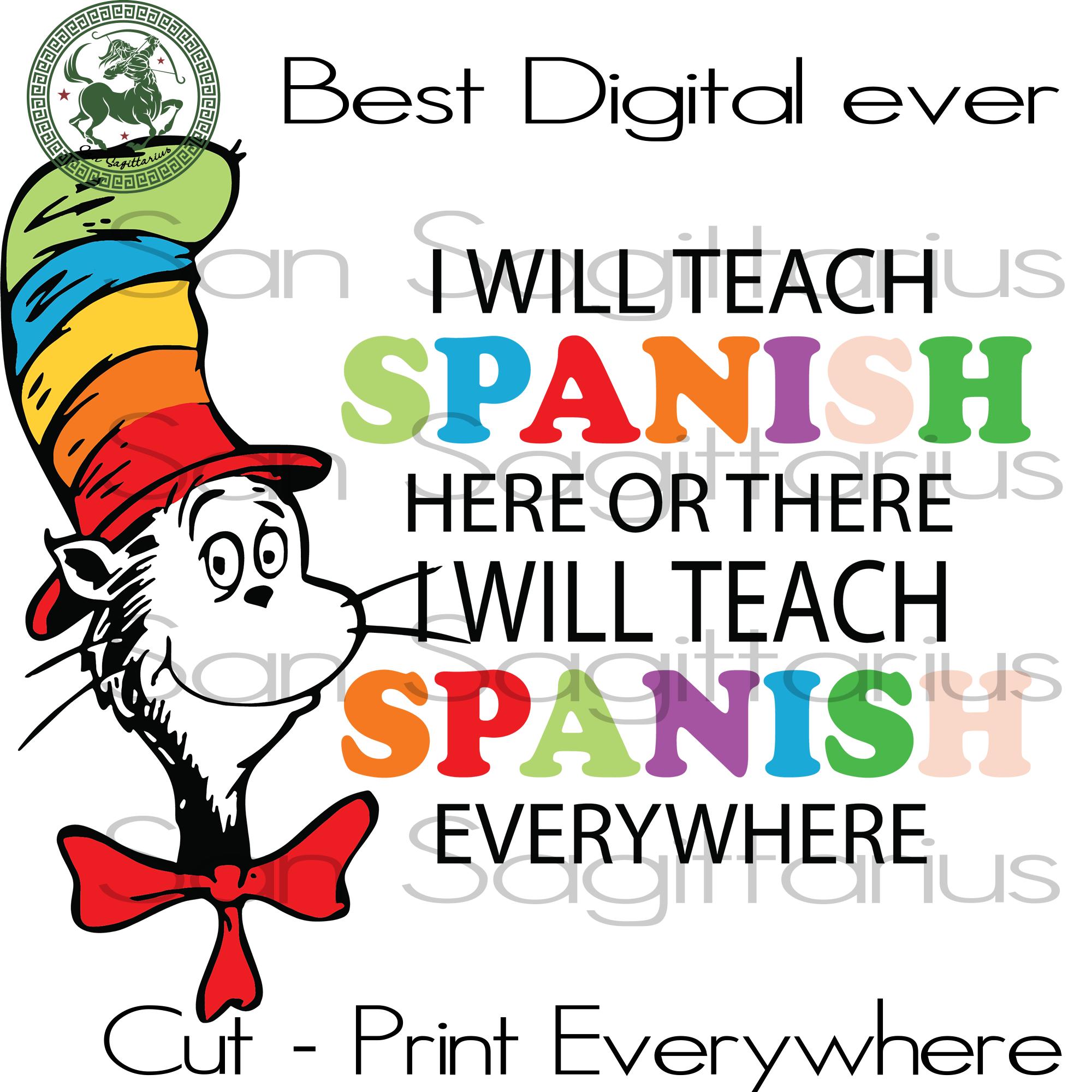 Spanish Teacher Dr Seuss Svg Dr Seuss Teacher T