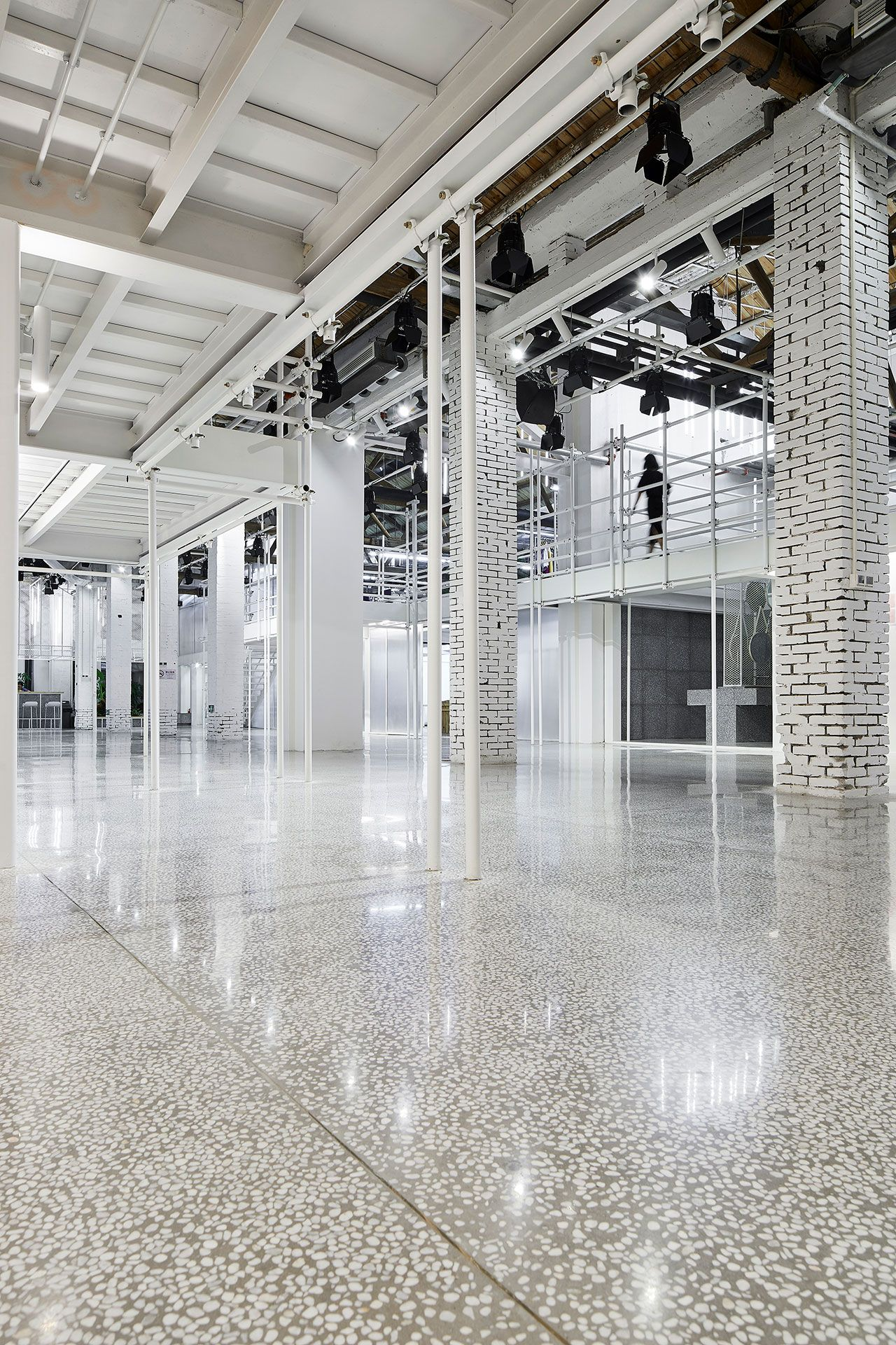 Photo by zhang daqi also uooyaa headquarters the workplace as unfinished space terrazzo rh pinterest