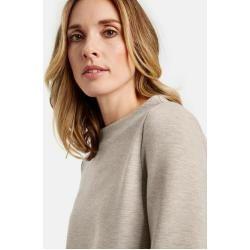 Photo of Gerry Weber long-sleeved shirt with asymmetrical hem Light Taupe-Melange women Gerry Weber