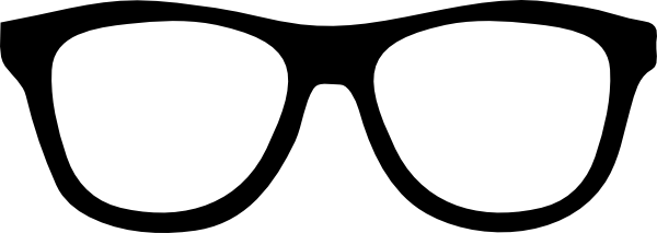 Sunglasses outline. Nerd glasses clip art