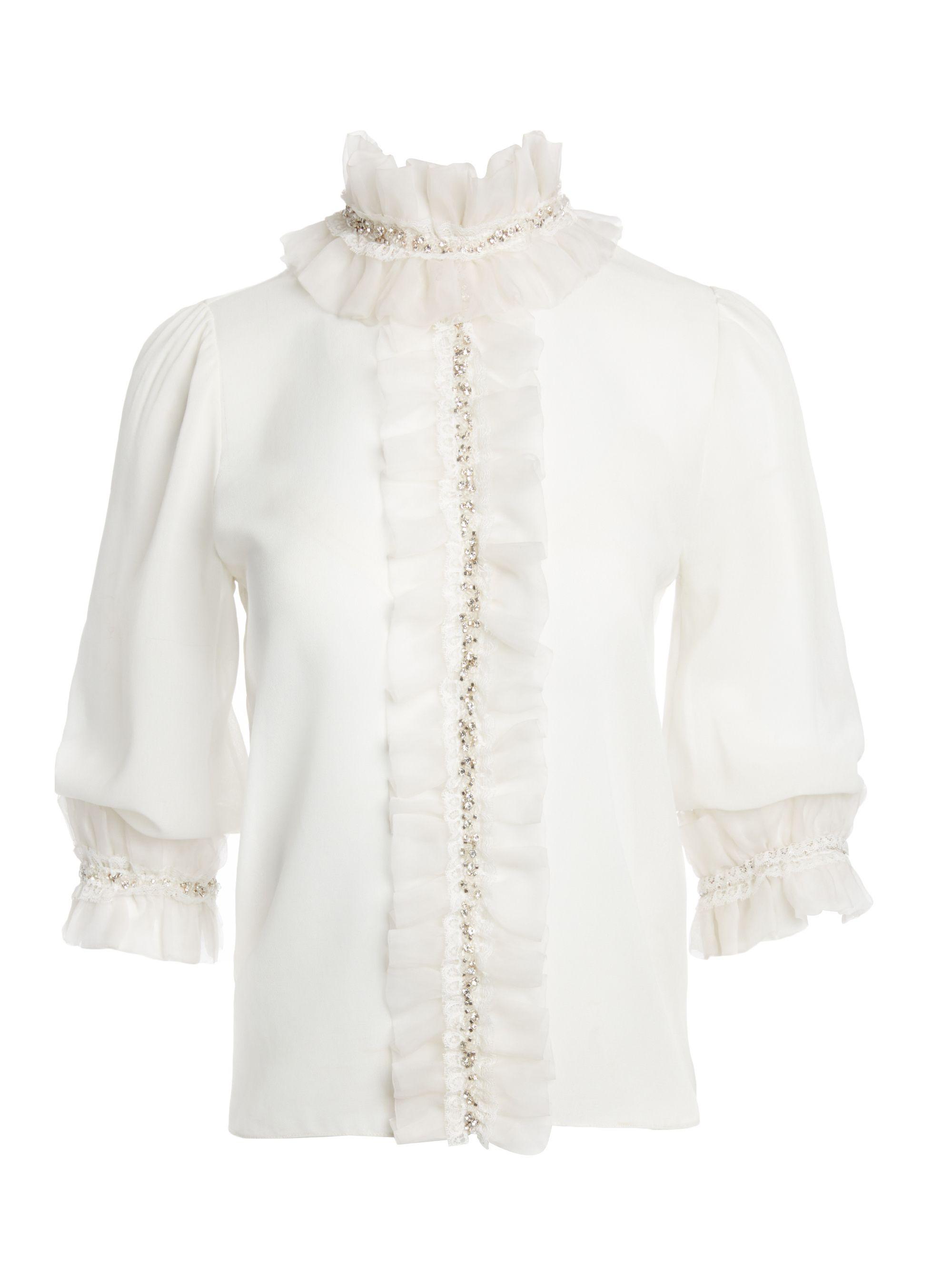 05f3440b001c3 Mira crystal ruffle blouse woman tops pinterest ruffle blouse jpg 2000x2667  Crystal collar blouse