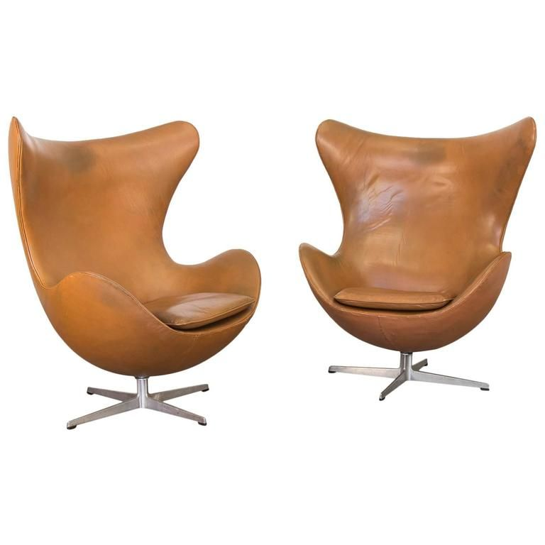 Groovy Vintage Leather Egg Chairs By Arne Jacobsen Stuff Egg Home Interior And Landscaping Synyenasavecom