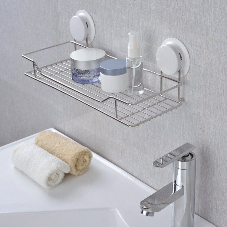Free Shipping High Quality Bathroom Suction Shelf Stainless Steel Wall Rack  For Bathroom And Kitchen $32.90