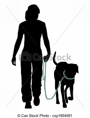Stock Illustration Dog Training Obedience Command Go At The